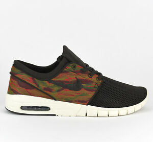Dettagli su Nike SB Stefan Janoski Max Uomini Stile Di Vita Scarpe Da Ginnastica Nuovo Velluto Marrone 631303 200 mostra il titolo originale