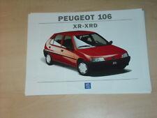 45224) Peugeot 106 XR XRD Prospekt 1993