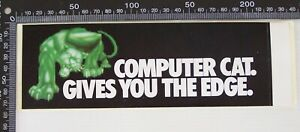 VINTAGE-COMPUTER-CAT-GIVES-YOU-THE-EDGE-ADVERTISING-SHOP-PROMO-VINYL-STICKER