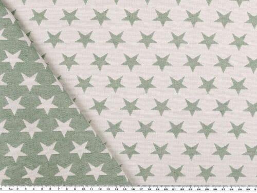 Deko-Jacquard Double-face Sterne 140cm grün-hellgrau