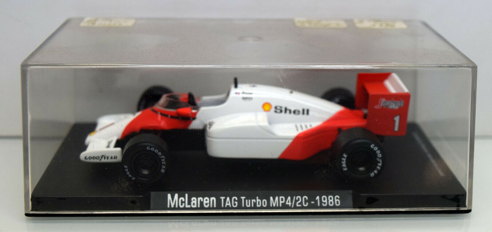 Minichamps 1 43 McLaren TAG Turbo MP4 2C, Alain Prost 1986 Weltmeister