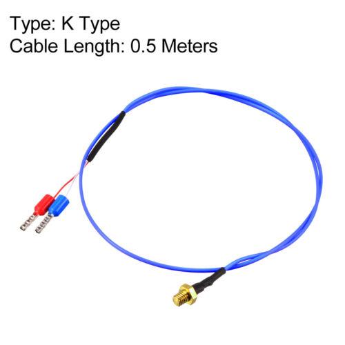 K Type Thermocouple Temperature Sensor Probe for 3D Printer M3 M4 Thread