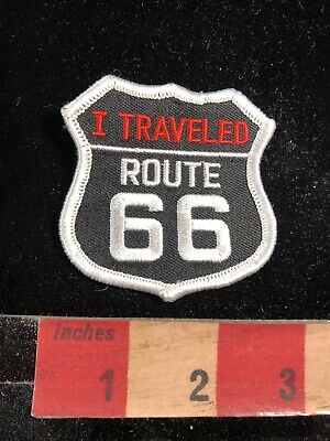ROUTE 66 PATCH RTE 66  ROAD SIGN PATCH BIKER  HEAVY METAL BIKER DIY SEW //IRON ON