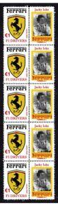 JACKY-ICKX-FERRARI-F1-DRIVER-STRIP-OF-10-MINT-VIGNETTE-STAMPS-1