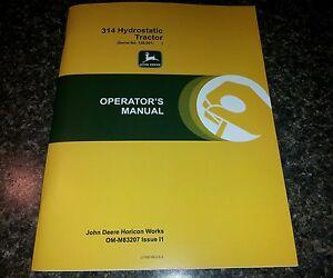new original john deere 314 operators manual lawn mower garden rh ebay com john deere 312 manual john deere 314 manual download