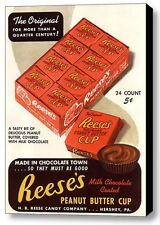 Framed Reese's Peanut Butter Cups Vintage Ad Art Print Limited Edition with COA