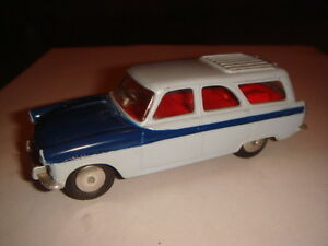 Corgi Toys Ford Zephyr Estate Car Gris Et Bleu Fonce