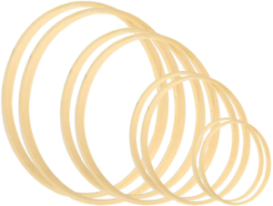 Larcenciel Wreath rings 8 Pack 4 Sizes 5 6 8 /& 10 Inch Wooden Bamboo Floral Hoop