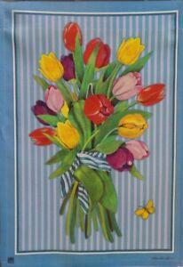 Pinstripe Tulips Standard House Flag by Breeze Art #9216  Beautiful!