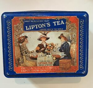 Vintage-Lipton-039-s-Tea-Limited-Edition-Nostalgic-Collectible-Tin-Series-401-Empty