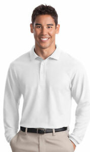 Port-Authority-New-Mens-Big-amp-Tall-Soft-Long-Sleeve-Polo-Shirt-LT-4XLT-TLK500LS