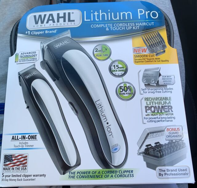 Wahl Clipper Lithium Ion Pro Cordless Hair Trimmer Trimming Combo Kit 79600-2101