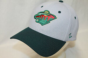 new product 1c07c 1ead1 Image is loading Minnesota-Wild-Hat-Cap-034-The-Athlete-Flexfit-