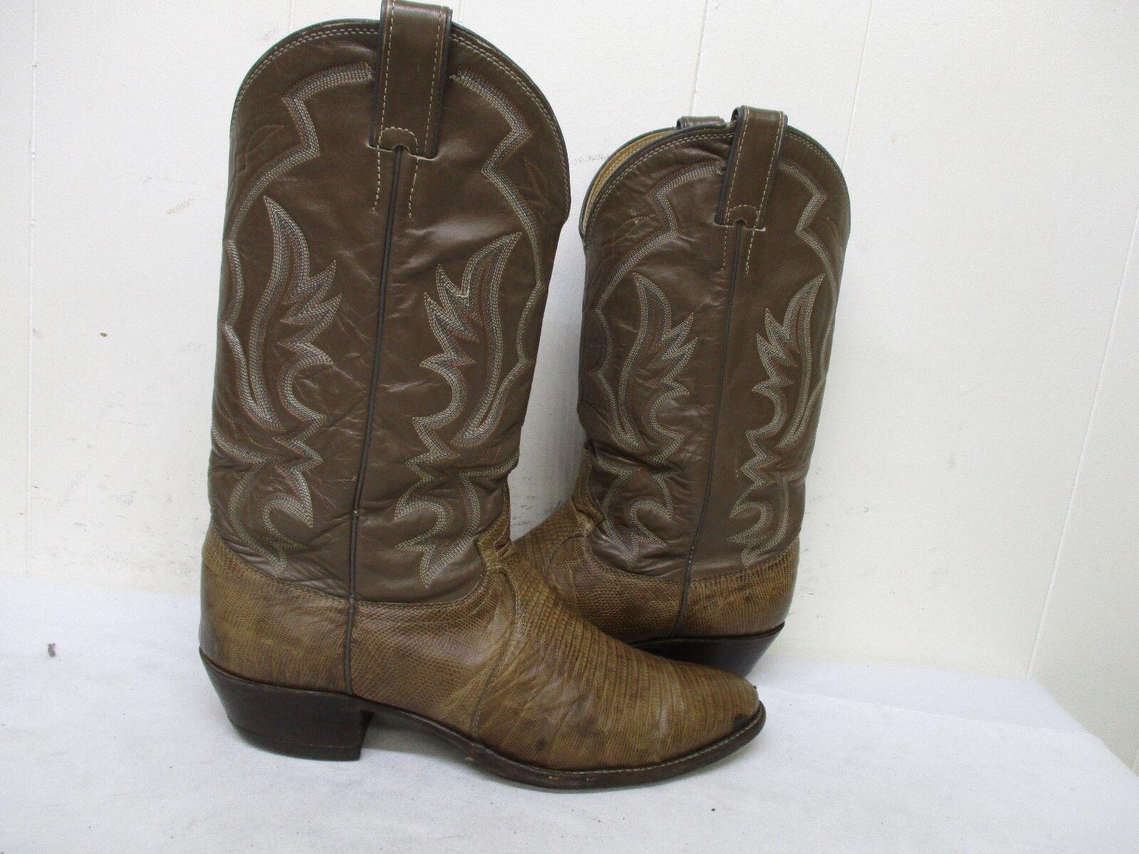 JUSTIN Taupe Lizard Leder Cowboy Stiefel  B  Herren Größe 11 B  Style 8493 USA 780591