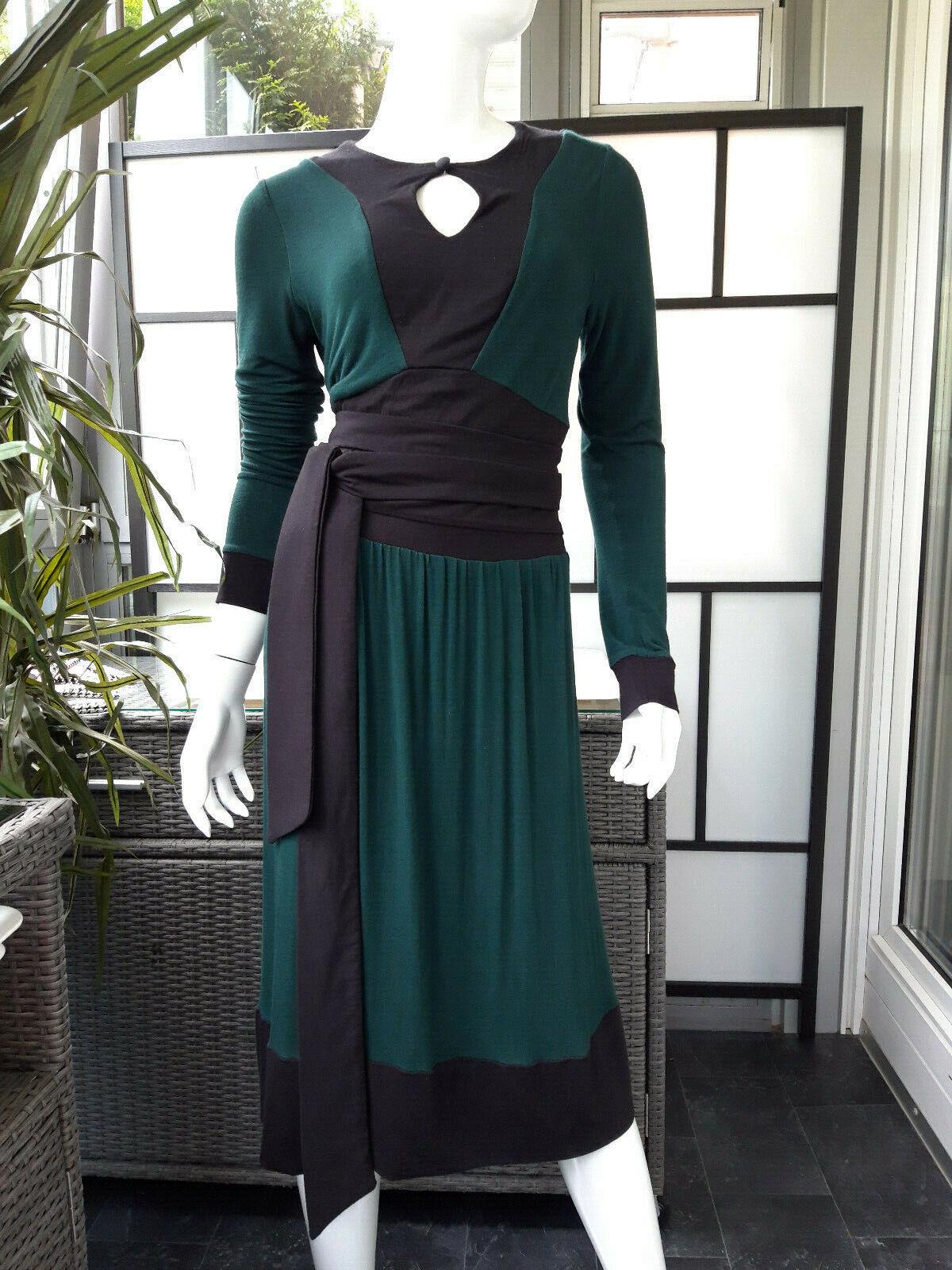 Jersey Kleid,langarm Kleid ,Jerseykleid,Festkleid,Abendkleid,grün,gr.36 38 S