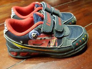 Cars Jungen Kinder Turnschuhe Blinkschuhe Schuhe gr. 26 blau