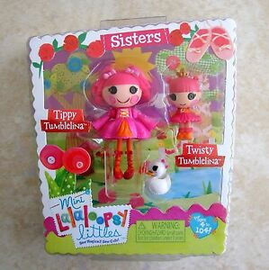 Tippy-Tumblelina-Twisty-Tumblelina-Sisters-Mini-Lalaloopsy-Doll-New-2-Pack-Set