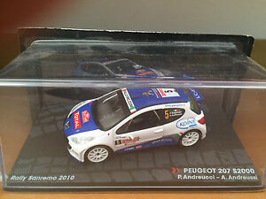 DIE-CAST-034-PEUGEOT-207-S2000-RALLY-SANREMO-2010-034-PASSIONE-RALLY-SCALA-1-43