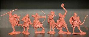 Publius Vikings Toy Soldiers Publius rouge-Couleur Brun 1:32 Set Complet