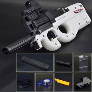 CS Game Toy Electronic Gun White Air P90 Submachine Gift Boy Soft Water Bullets