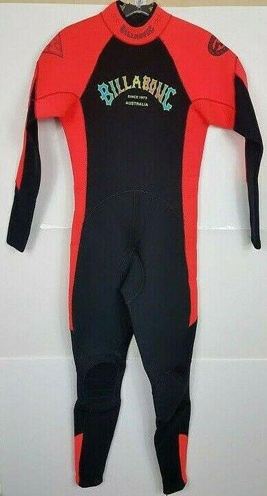 Billabong Womens Teens Girls Full Neon orange Wetsuit Surf  Swim Dive Sz 0 2  best quality best price