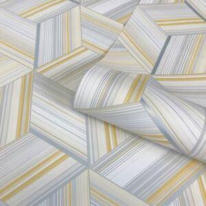 Belgravia-Decor-Hudson-Geometrique-Metallique-Papier-Peint-Jaune-9790