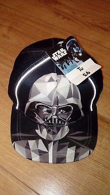 New Boys Disney Star Wars Darth Vader Baseball Cap Age 7-10 Years 54cm