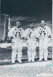 1969 Apollo 10 Astronauts in Spacesuits by Rocket Press Photo