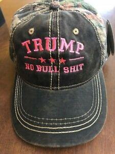 TRUMP NO BULL  HIT CAMO Donald Trump 2016 Cap Mossy Oak Neon Pink ... 6899cc16c297