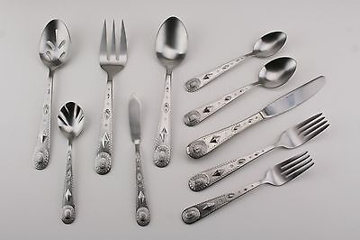 Wallace TAOS Stainless Flatware 5 pc place setting NEW 18//0 southwestern design