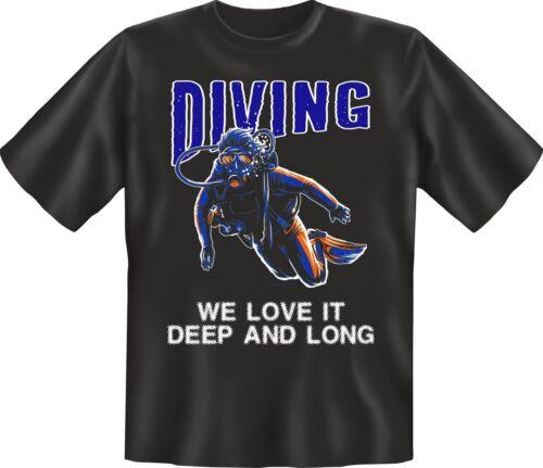 Plongeurs T-shirt Dive Plongée Sport Shirt Cadeau D/'anniversaire sélection Geil Imprimé