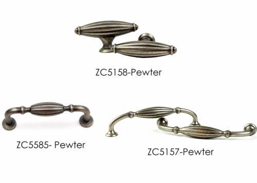Antique Knobs Pulls Handles Kitchen//Bathroom Cabinet Hardware Brushed Pewter