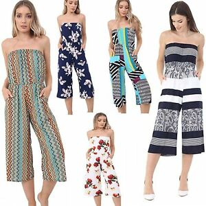 pour-femmes-imprime-BANDEAU-POITRINE-BARDOT-fin-Combinaison-Costume