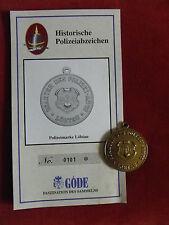 GÖDE POLIZEIABZEICHEN - POLIZEIMARKE LÖBTAU + ZERTIFIKAT 0101