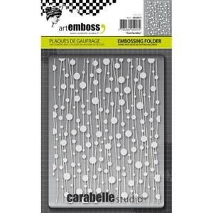 10.8 x 14.6 x 0.11 cm Carabelle Studio Embossing Folder-Template Small Circle Dots