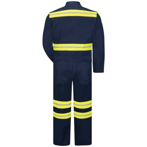 Details about  /Red Kap Work Coverall Hi Vis Enhanced Visibility Twill Action Back Navy CT10EN