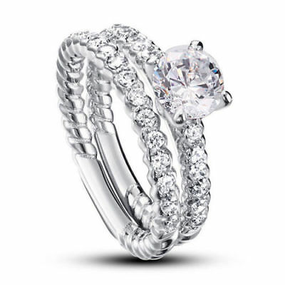 Sterling Silver Long Knuckle Full Finger Ring with AAA quality CZ Size 7,9