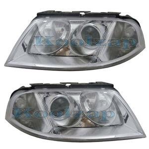 01-05-VW-Passat-Headlight-Headlamp-Head-Light-Lamp-Left-amp-Right-Side-Set-PAIR