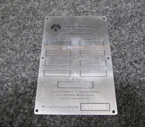 Commander Aircraft Face Plate NEW OLD STOCK