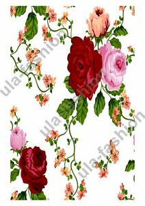 Rice Papers Decoupage Scrapbook and Craft Flowers and Bells 393