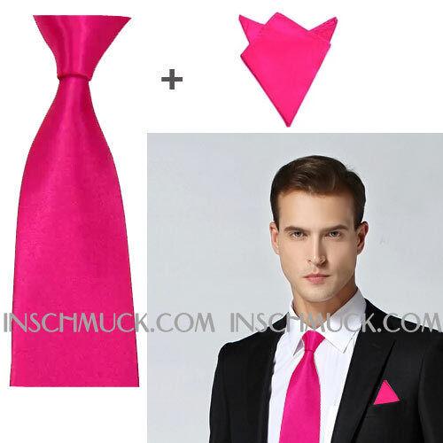 F19 2 PEZZI UOMO Fazzoletto business matrimonio 6 colori Cravatta