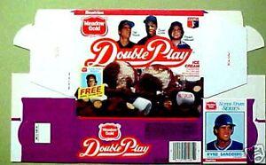 1986-Sandberg-Cubs-Brett-Royals-Murphy-Baseball-Card-UN-USED-Ice-Cream-Carton
