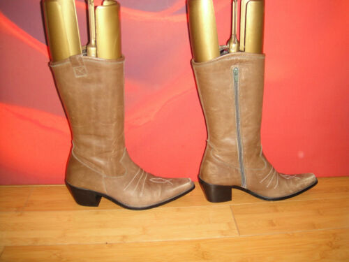 Brown Boho Boots Cowboy Festival 36 Style Superb Leather Eu 14 zfqwzdg