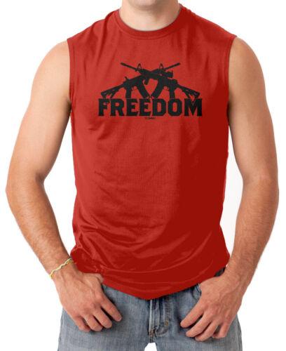 2nd Amendment Gun Rights America Men/'s SLEEVELESS T-shirt Freedom