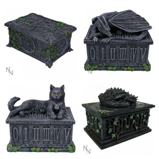 Nemesis Now Dragon Ivy Pentagram Wicca Tarot Card Holder Box Trinket Keepsake