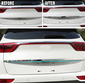 Chrome Rear Trunk Cover Tailgate Trim Back Door Molding For Peugeot 3008 2017