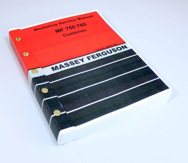 Vintage Massey Ferguson 750 760 Combines Service Manual For Sale Online Ebay