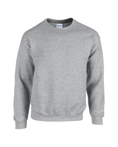 Da Uomo Gildan Heavy Blend Crew maglione a girocollo-felpa adulto S M L XL 2XL