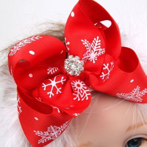 Christmas Gift Snow Flower Bow Headband Hair Band Hairband Headwear