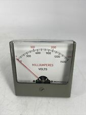 Rare Vintage 72d82610h01 Motorola Microamperes Volts Panel Meter Gauge